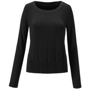 CAbi Black formal long sleeve blouse large
